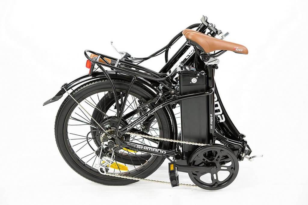 Vélo électrique plié